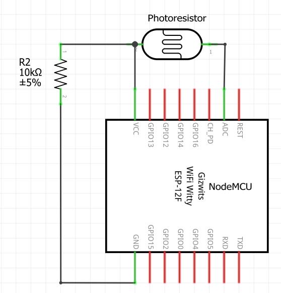 Photoresistor circuit